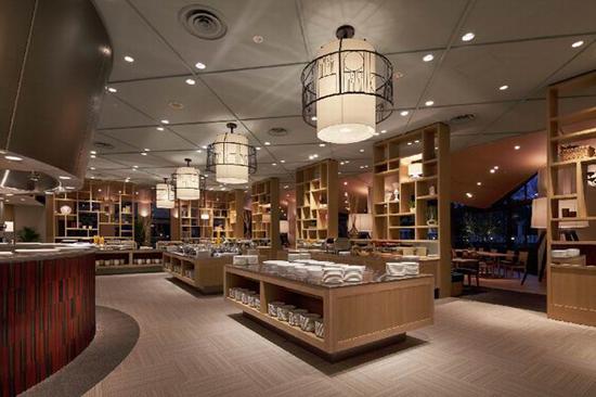 日本serina buffet 餐厅照明设计