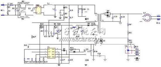 图二:基于ax6066 a433的18w应用电路图