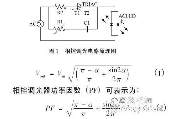 可控硅相控调光器的基本电路,ac是输入工频220v 交流电,负载为ac led