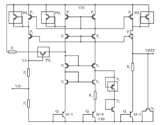 由于基准电路的输入电压最高可达到30v,而普通mos管漏源和栅耐压为