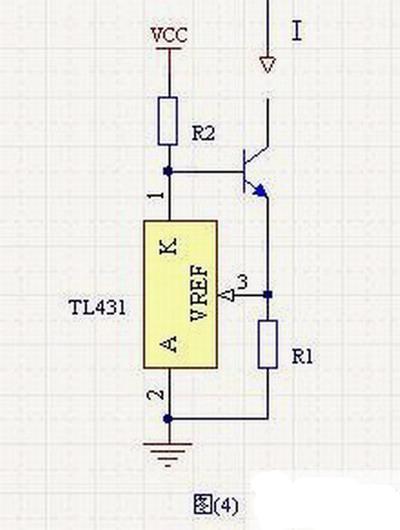 tl431是另外一个常用的电压基准,利用tl431搭建的恒流源如图(4)所