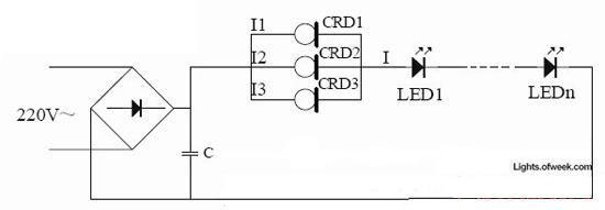 图5  crd的简单恒流电路